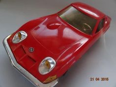 GREEK TOYS*VINTAGE 70's OPEL GT 1900 M 1:12BATTERY OPERATED GAMA COPY RED COLOR