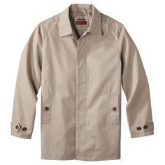 Cotton straight-fit overcoat in khaki