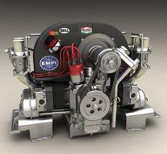 Flat Four motor Auto Volkswagen, Vw T1, Volkswagen Beetle, Porsche 356, Vw Modelle, Combi T2, Vw Variant, Vw Rat Rod, Rat Rods