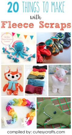 20 Adorable Things to Make with Fleece Scraps - Cutesy Crafts