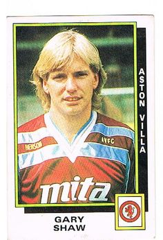 Gary Shaw of Aston Villa - Football 86 - Panini - English & Scottish Leagues Aston Villa Kit, Football Program, Baseball Cards, Football Season, Image, Google
