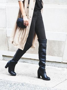 Black over the knee boots: http://rstyle.me/n/p27qi4ni6 #GiftsForHer #FreePeople