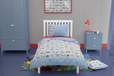 Traffic themed toddler duvet Toddler Duvet Set, Toddler Bed, Car Themed Nursery, Childrens Duvet Covers, Baby Boy Bedding, Nursery Bedding, Blue Duvet, Duvet Sets, Bed Sizes
