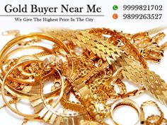We are the best gold and silver buyers in Delhi we buy any type of Gold and silver in any condition either new or scrap or old. We will give you the highest price for your precious metals or ornaments.
