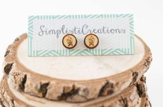 The Great Outdoors Earring Studs Wood Stud by SimplistiCreations