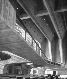 Marcel Breuer, Abbey Church of St John's University, Collegeville, Minnesota,1955-58