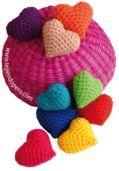 Tutorial: corazones tejidos en la técnica del amigurumi (crochet)