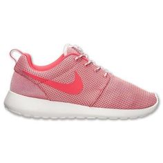(511882-018) Women's Nike Roshe Run *Light Base Grey/Geranium #Nike #Walking