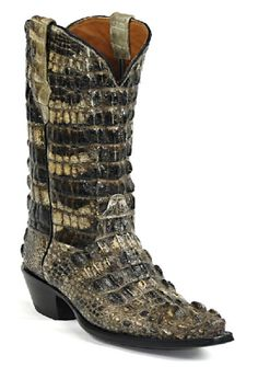 American Alligator Boots Style NT130 Custom-Made by Black Jack Boots