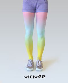 Ombre tights  Rainbow