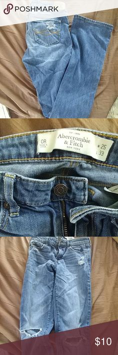 Abercrombie Jeans holey jeans boot cut regular Abercrombie & Fitch Jeans