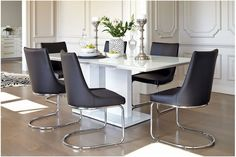 Senti 7 Piece Dining Suite With Senti Black Dining Chairs - Instao Furniture