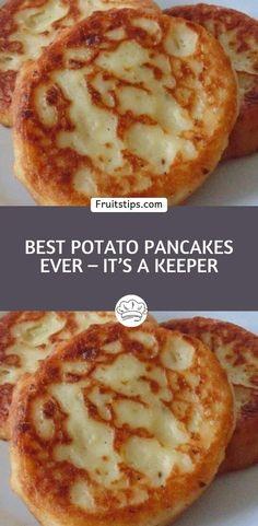 Leftover Mashed Potato Pancakes, Mashed Potato Cakes, Sweet Potato Pancakes, Potato Pancake Recipes, Potato Dishes, Food Dishes, Side Dishes, Breakfast Dishes, Breakfast Recipes