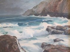 Macmullen Signed Vintage California Plein Air Seascape Impressionism Painting | eBay