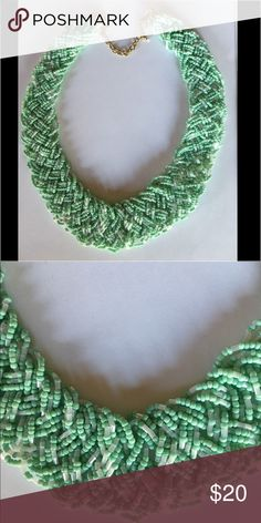 """Summer Bead Green Necklace with 3"""" extender... Summer Bead Green Necklace with 3"""" extender... Jewelry Necklaces"""