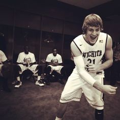 RDB leads victory chant in locker room after BYU defeat Basketball Games For Kids, Basketball Socks, College Basketball, Ron Baker, Byu Sports, Wsu Shockers, Missouri Valley, My Future Boyfriend, Future Husband