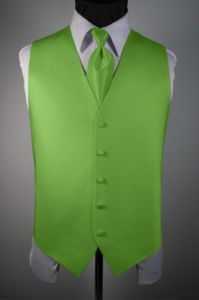 Lime green vest and tie. OMG THIS IS EXACTLY WHAT I WANT!!!