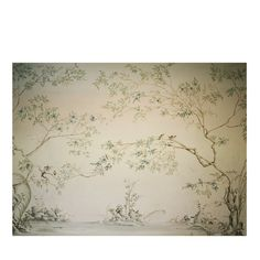 This superb wallpaper was painted by hand on natural cotton canvas and is a one-of-a-kind. The leaves are painted freehand, while the rest of the painting,. Wallpaper For Sale, Modern Wallpaper, Wallpaper Roll, Flower Wallpaper, Wall Wallpaper, Plant Wallpaper, Bedroom Wallpaper, White Wallpaper, Wallpaper Ideas