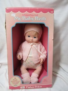 Another pinner wrote: VINTAGE 1978 FISHER PRICE MY BABY BETH DOLL MIB I had Beth, Mandy and Jenny! Loved them!