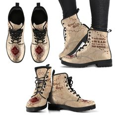 Harry Potter Marauder Women's Boots HP0007 - Women's Leather Boots - Black - HP / US11 (EU42)
