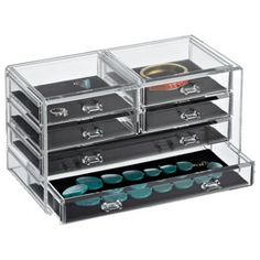 looks good for organizing jewelry - The Container Store > 6-Drawer Premium Acrylic Chest