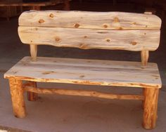 Rustic Wood Bench with back, made from Aspen Logs, Sustainable Furniture, Rustic Furniture from Naturally Aspen