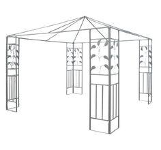 Outsunny 10 x 10 Steel Gazebo Frame - Leaf Design