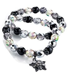FOREVER selected by Paula Abdul Shimmer Bead Double Row Bracelet  797-730