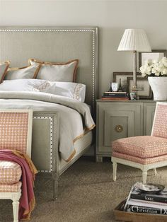 Like the nailhead/ribbon detailing on the Candler Bed