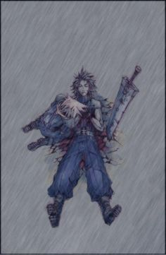 Cloud Strife and Zack Fair. Fan art. Final Fantasy VII: Crisis Core.