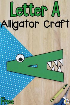Are you looking for a craft for your preschoolers to create when learning all about the capital letter A? This Letter A Alligator Craft is creative letter recognition activity and fun when learning the abc's. Cutting and gluing is also a great way for your kids to work on developing their fine motor skills, hand and eye coordination, muscle strength, and more! Click on the picture to learn how to make this letter craft and get the free printables! #lettercraft #letterrecognition #learningtheabcs