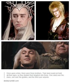 Awesome au from deslea.tumblr.com ! Thranduil - Lucius Malfoy - Goblin King
