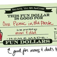 Printable: Fun Dollars for Kids - #printable