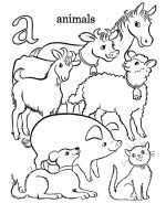 Letter A for Animal - Farm Alphabet Coloring Pages - ABC's coloring pages
