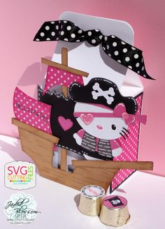 The Cricut Bug: 2nd Annual Hello Kitty Blog Hop- Using Simple Treat Box and Pirate Girls