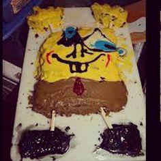 Spongebob cake fail! #spongebob #cake #cakefail #fail #bad #awesome #amazing #cute #dessert #fun #like #love #live #life #food #eat #funny #yum