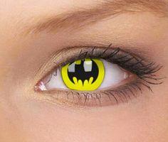 Batman eye contact lenses