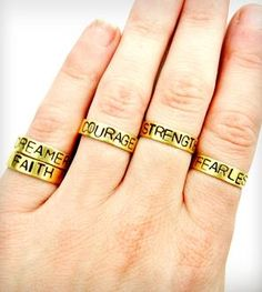 Positive Mantra Ring