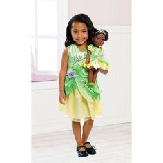Disney Princess Tiana Doll & Toddler Dress Gift Set