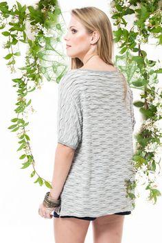 T-shirt babadinhos mescla cinza R$ 109,90 - Terra da Garoa Verão 16 - Moda Sustentável feita com amor
