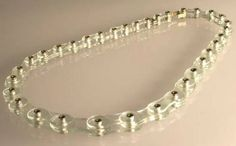 "Blanche TILDEN - ""Glass Bike Chain"" - glass, 750 gold or 925 silver"