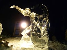 Ice Sculpture festival in Holland. Frankenstein ice sculpture made by Tim Hanford (a sand and ice carver from UK) and Jamie Wardley from sandinyoureye.