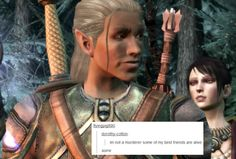 bubonickitten:  Dragon Age: Origins + text posts: Zevran Had a...