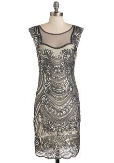Gorgeous! 1920s dress - Deco-dent Evening Dress
