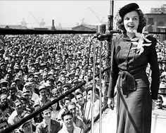 Judy Garland sings in Philadelphia to raise money for the war effort, 1944