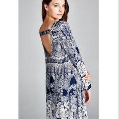 One Left! Size Medium Long Sleeve Swing Dress.