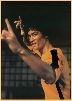 The Game of Death starring Bruce Lee. Jumpsuit inspires Tarantino to use in Kill Bill.