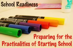 School readiness: Preparing for the practicalities of starting school. A checklist of practical skills helpful for easing your child's introduction to the school environment. Kindergarten Preparation, Kindergarten Readiness, Preschool Curriculum, School Readiness, Preschool Kindergarten, Toddler Preschool, Homeschool, Educational Activities, Preschool Activities