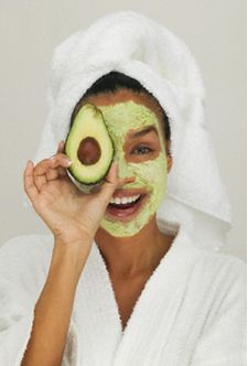 Avocado skin mask...Anti-aging!!   1/2 avocado, 1 egg yolk, 1 tbsp. honey. Mix, apply, leave on for 20 minutes and rinse with warm water. Goodbye fine lines, hello softer skin!