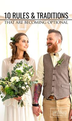 """10 Wedding Rules & Traditions That Are Becoming Optional ❤ Everyone is so caught up in keeping the traditional """"wedding rules."""" Guess what? It's YOUR day! Times are changing. We've debunked some for the wedding myths for you. See more: http://www.weddingforward.com/wedding-rules-traditions-that-are-optional/ #wedding #weddingplanning #bride"""